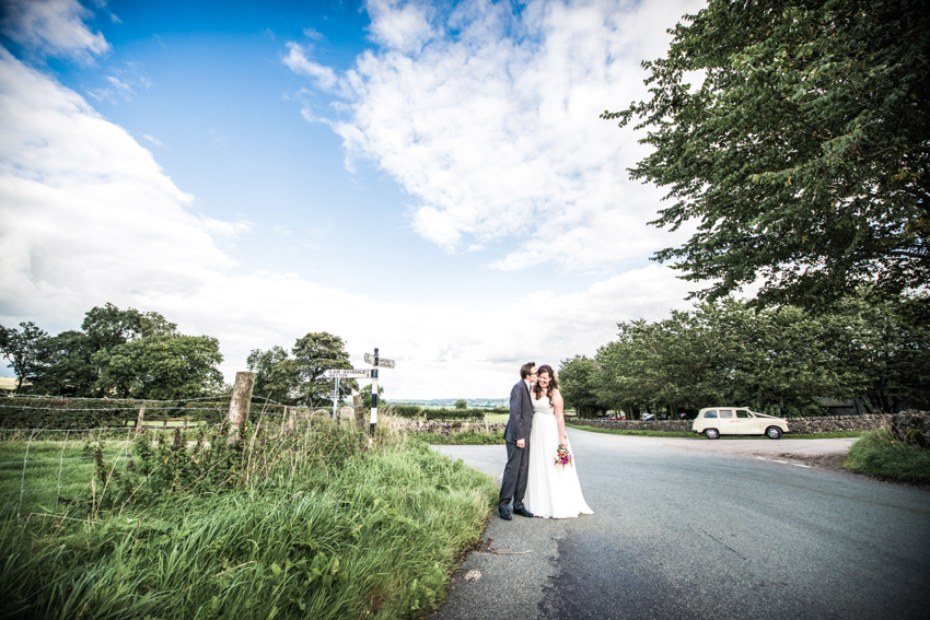 Quirky and Alternative Genuine Wedding Photograph