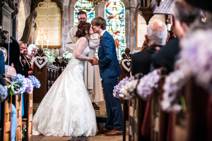 Wedding Service You May Kiss the Bride Moment