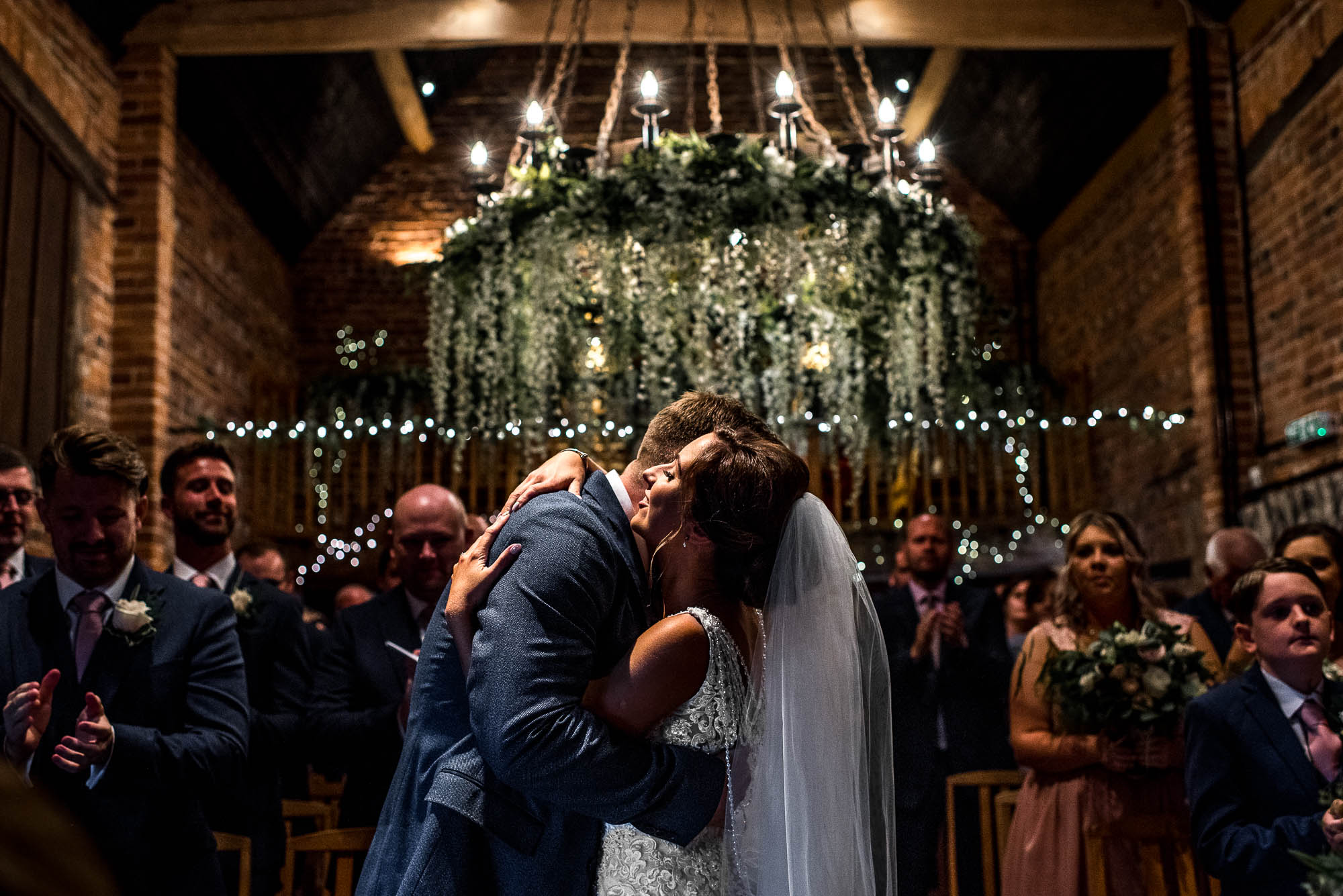 First Kiss Curradine Barns Wedding Worcester-Adam-Lowndes-Photography-Staffordshire Wedding Photography