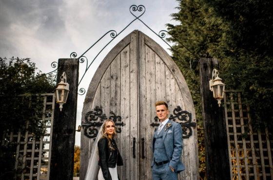 Large Wooden Doored Entrance to Alcumlow